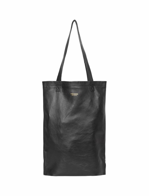 Tote Bag Leather <br /> Black