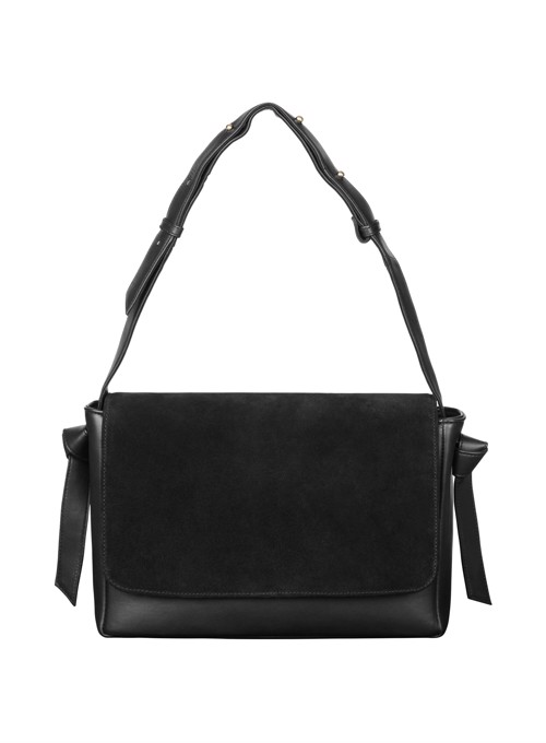 Shoulder bag <br/> Black skin combined with suede