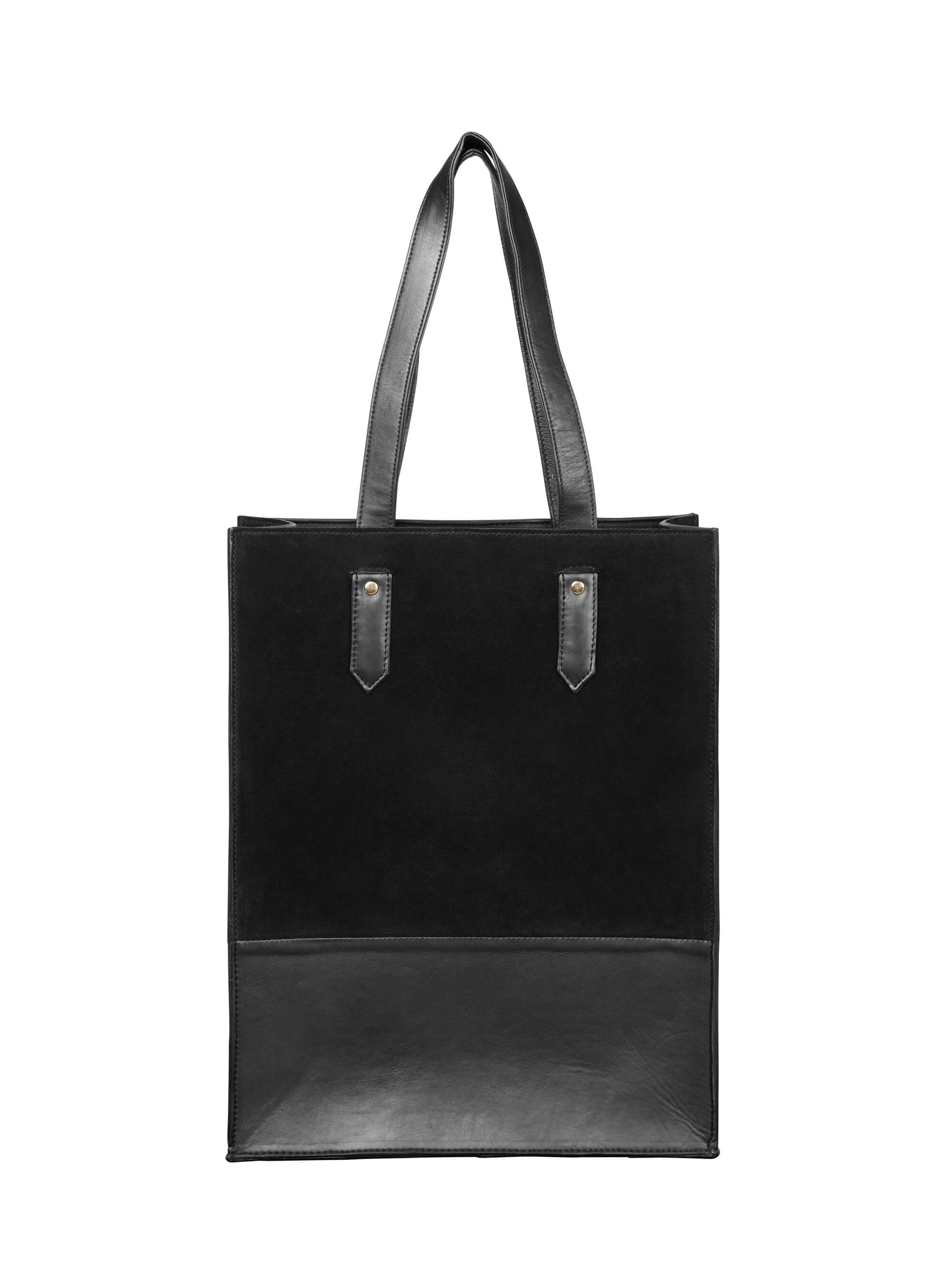 Shopper </br> Black skin combined with suede