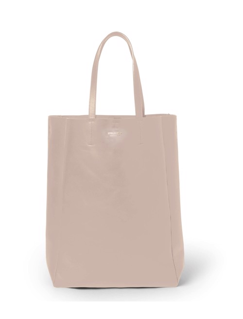 Shopper - tall <br /> Taupe dyed skin with brass details