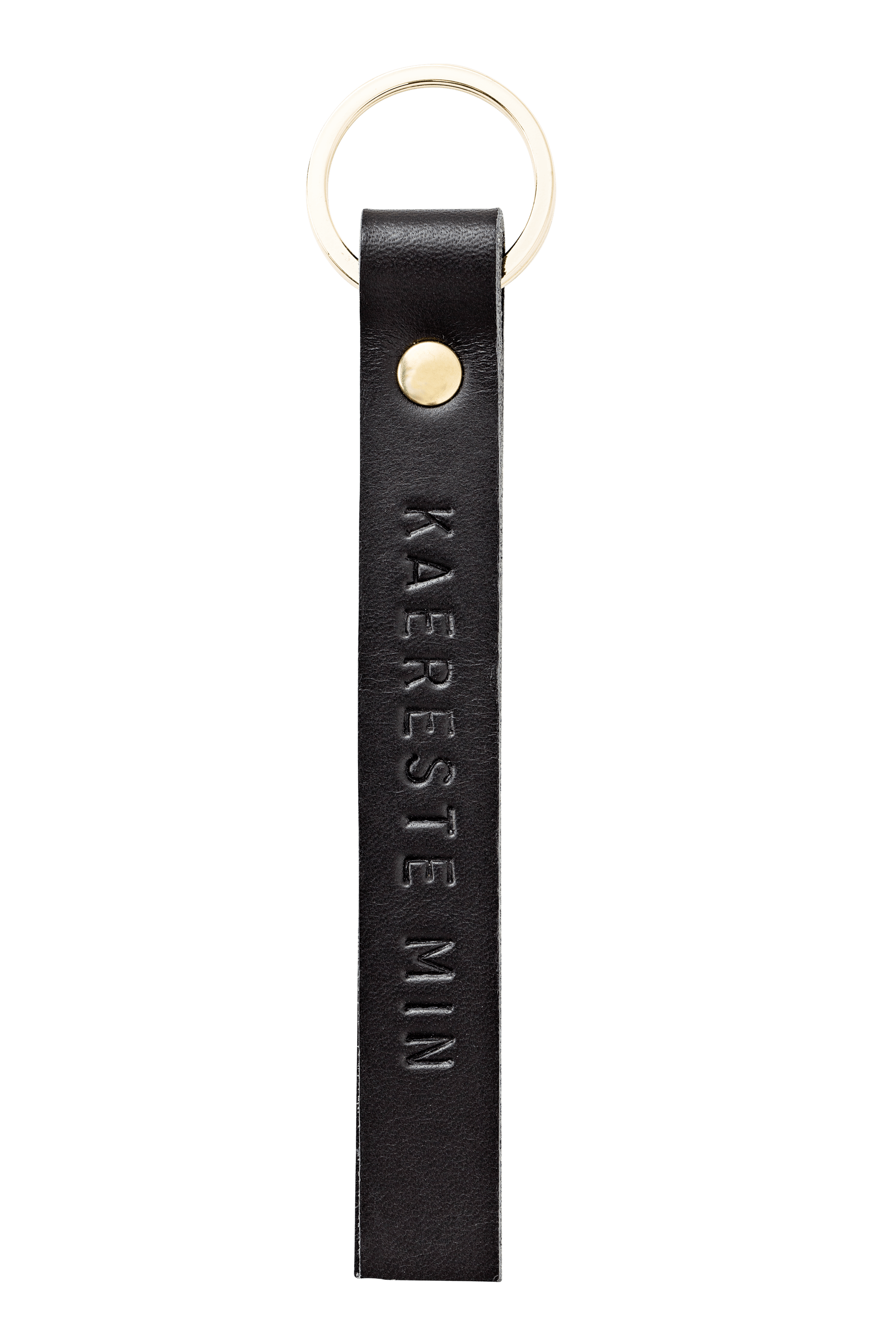 Key Buddy <br />Black leather with brass details
