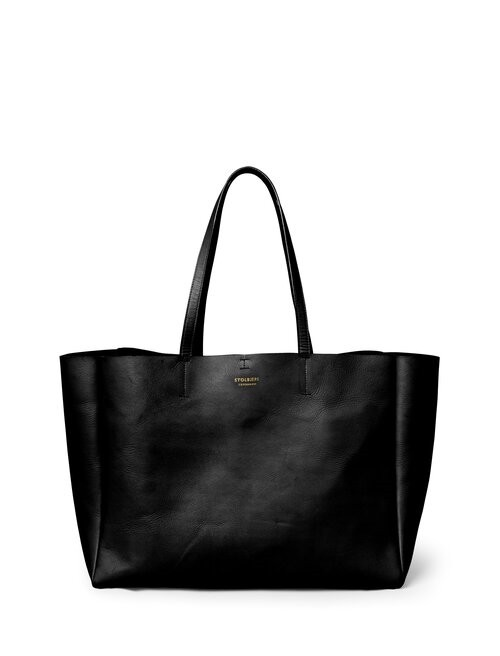 Shopper <br /> Black skin with brass details