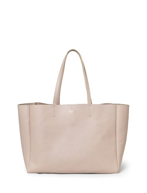 Shopper  <br /> Taupe dyed skin with brass details